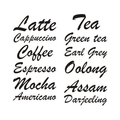 Hot Drinks Labels