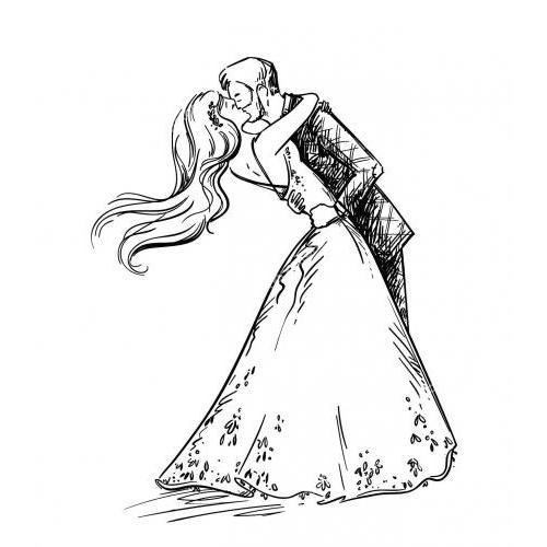 Romantic wedding dance love