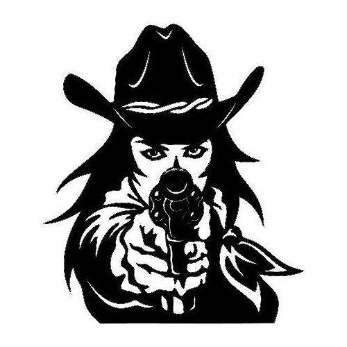 CNC File Sharing - Sexy lady cowgirl with gun