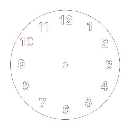CNC File Sharing - Simple Clock Face - Numbers