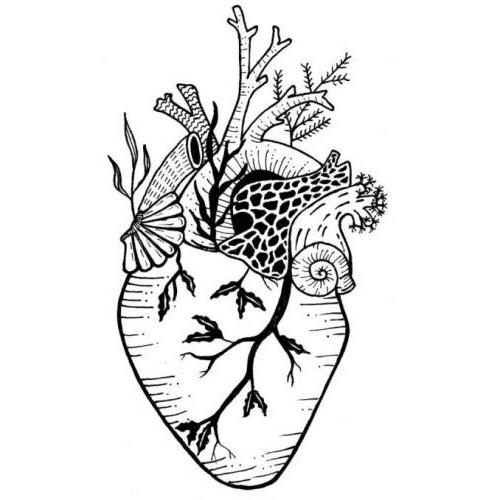 Anatomical surreal heart garden