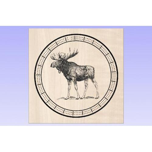 Cribbage Board Round - Moose