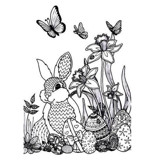 Easter bunny scene