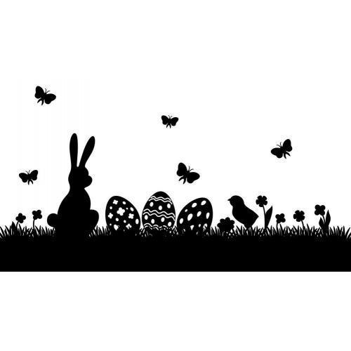 Easter egg bunny chick scene