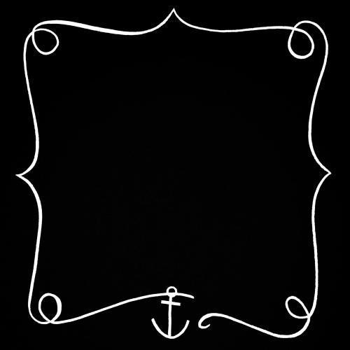 Nautical anchor frame border