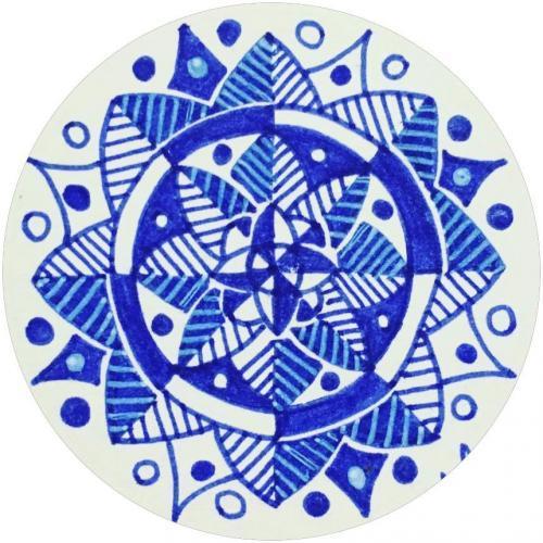 Simple handrawn mandala