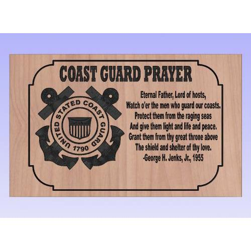 US Coast Guard Prayer Plaque
