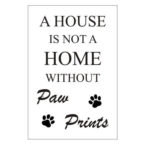 House Home Paw Prints