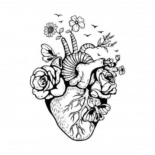 Anatomical heart garden