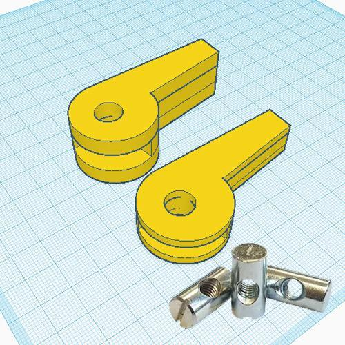 Cross Dowel Barrel Nut Cam Clamp 10mm