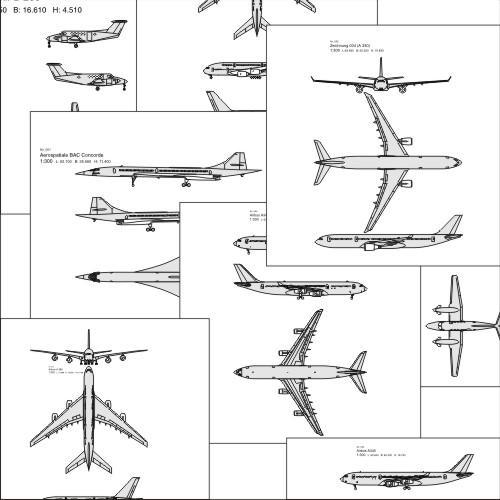 36 Airplane EPS Files