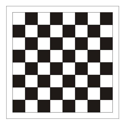 Chess Board DXF Simple