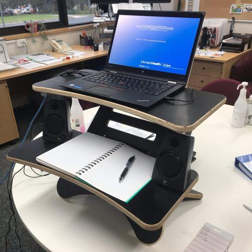 Adjustable Shelf Monitor Stand