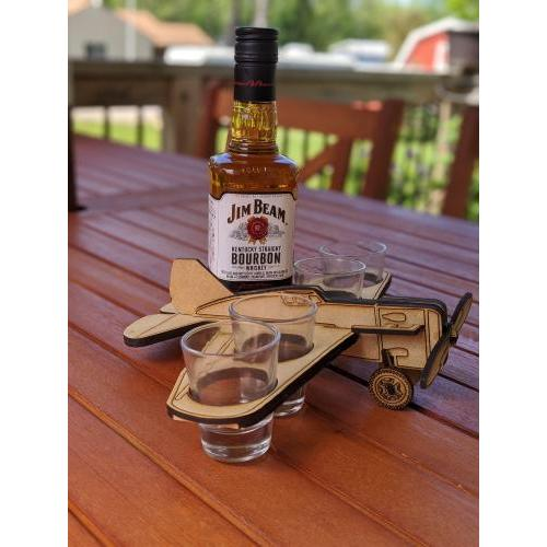 Plane Shot Glass Holder