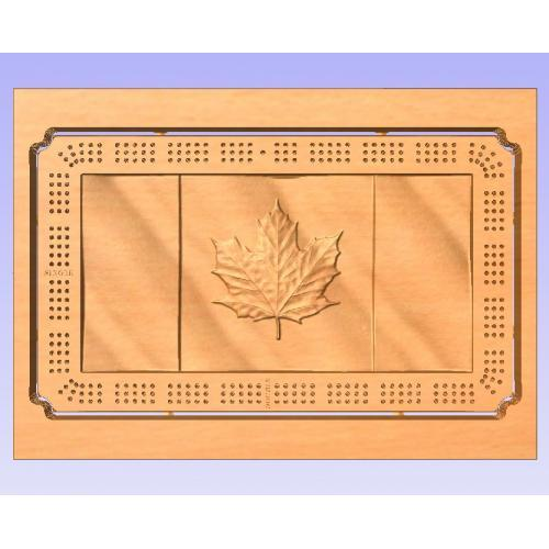 Canadian wave flag Crib Board no toolpaths (Vcarve Pro 9.5+ compatible)